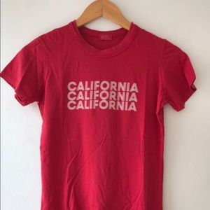 Brandy Melville Red California Tee